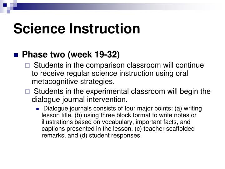 Science Instruction