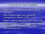 proposal for new england