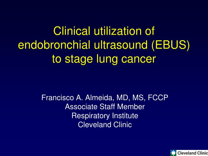 clinical utilization of endobronchial ultrasound ebus to stage lung cancer n.