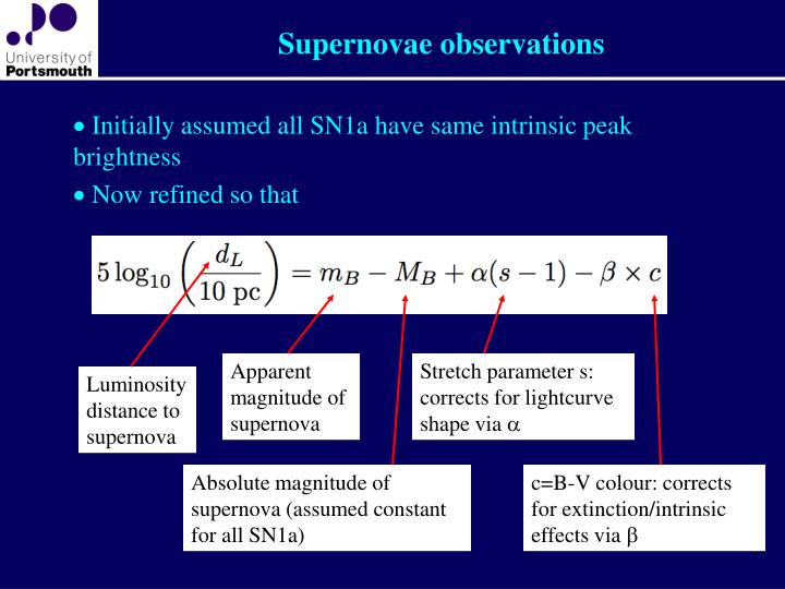 Supernovae observations