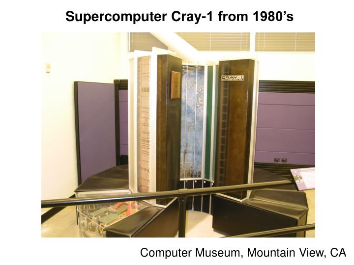 Supercomputer Cray-1 from 1980's
