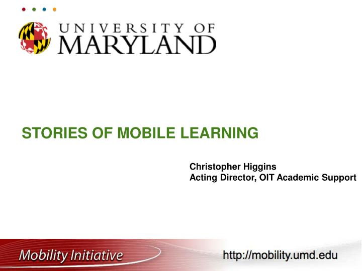 stories of mobile learning n.