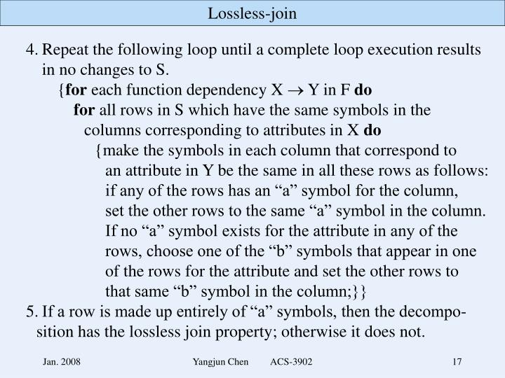 4.Repeat the following loop until a complete loop execution results