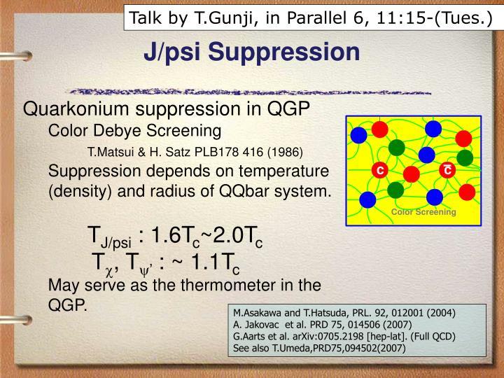 Talk by T.Gunji, in Parallel 6, 11:15-(Tues.)