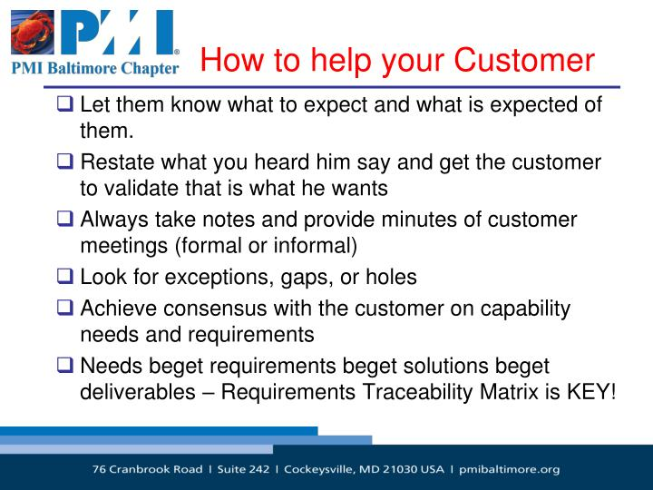 How to help your Customer
