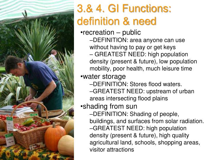 3.& 4. GI Functions: