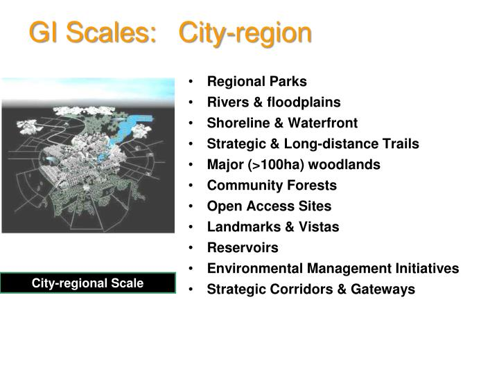 GI Scales: City-region