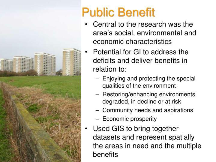 Public Benefit