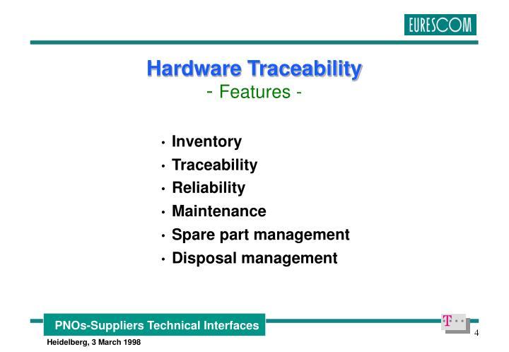 Hardware Traceability