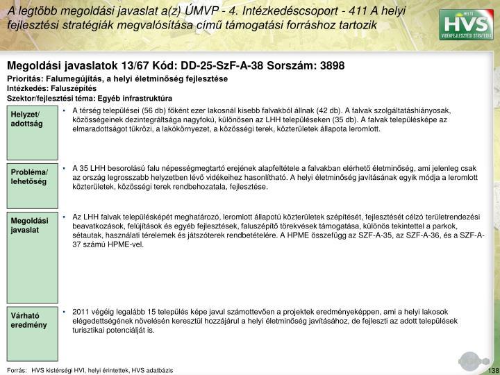 Megoldási javaslatok 13/67 Kód: DD-25-SzF-A-38 Sorszám: 3898