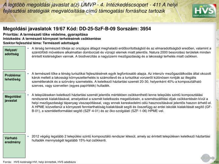 Megoldási javaslatok 19/67 Kód: DD-25-SzF-B-09 Sorszám: 3954