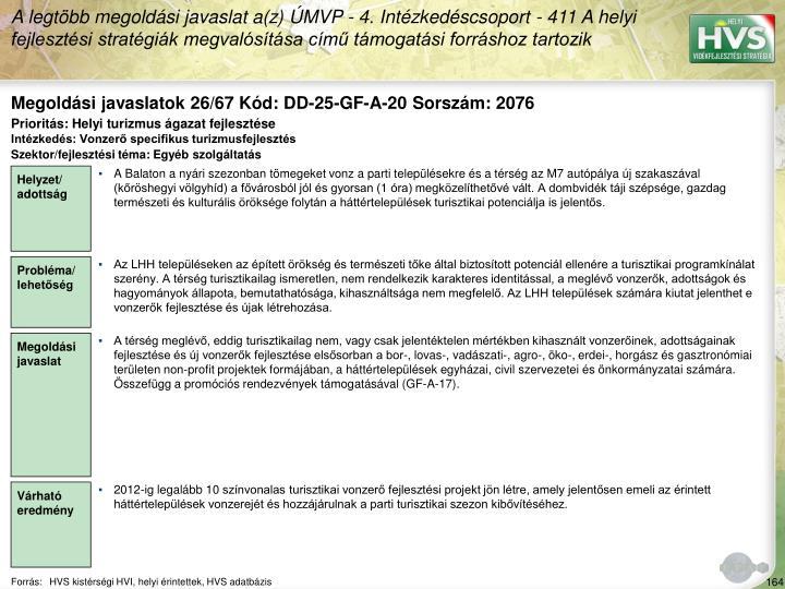 Megoldási javaslatok 26/67 Kód: DD-25-GF-A-20 Sorszám: 2076