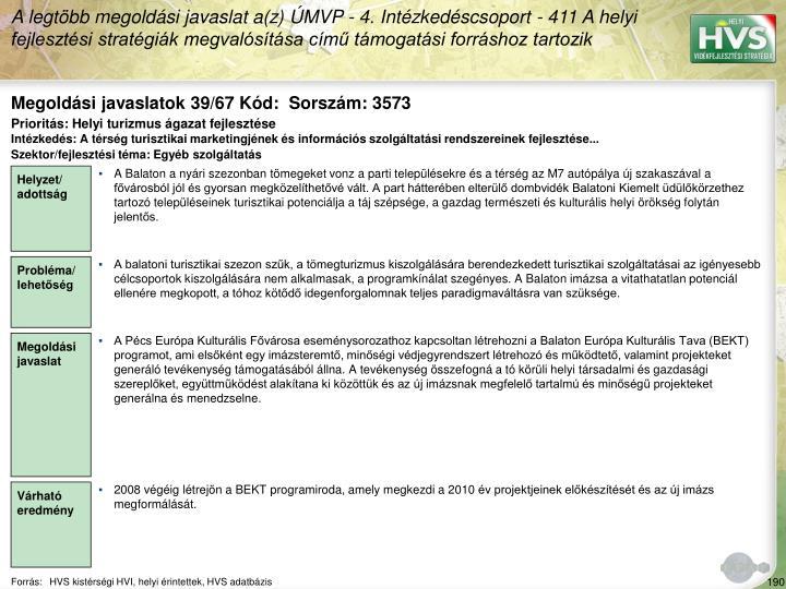 Megoldási javaslatok 39/67 Kód:  Sorszám: 3573