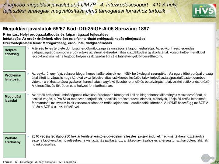 Megoldási javaslatok 55/67 Kód: DD-25-GF-A-06 Sorszám: 1897