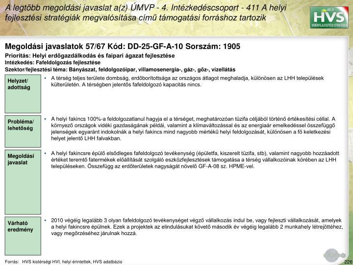 Megoldási javaslatok 57/67 Kód: DD-25-GF-A-10 Sorszám: 1905