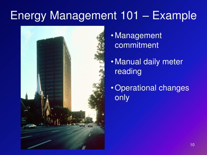 Energy Management 101 – Example