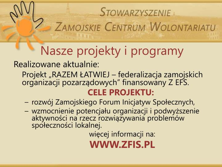 Nasze projekty i programy