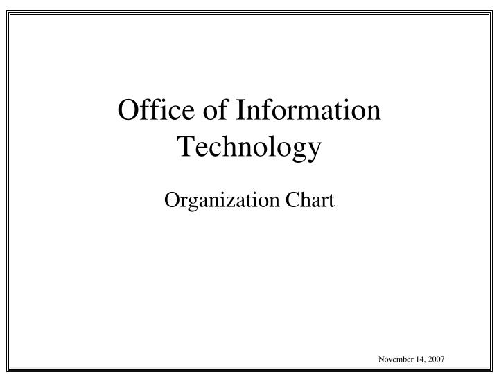 office of information technology n.