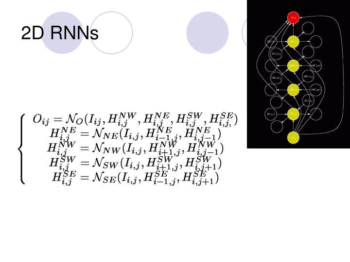 2D RNNs