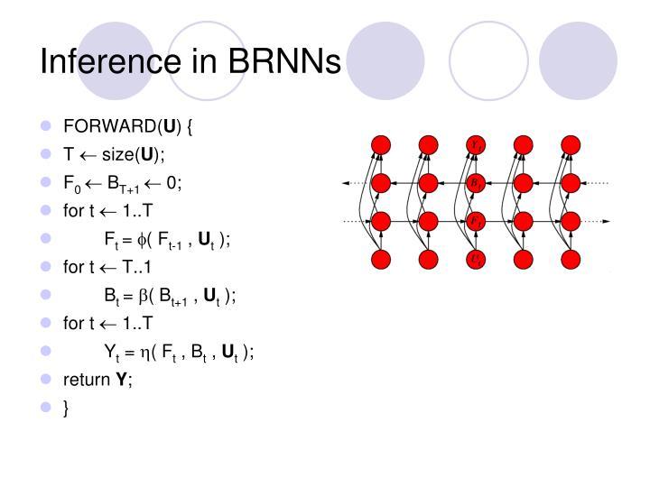 Inference in BRNNs
