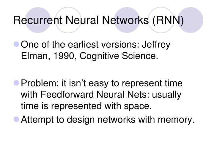Recurrent neural networks rnn