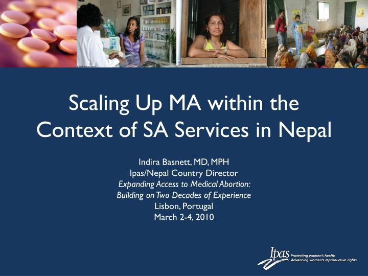 scaling up ma within the context of sa services in nepal n.