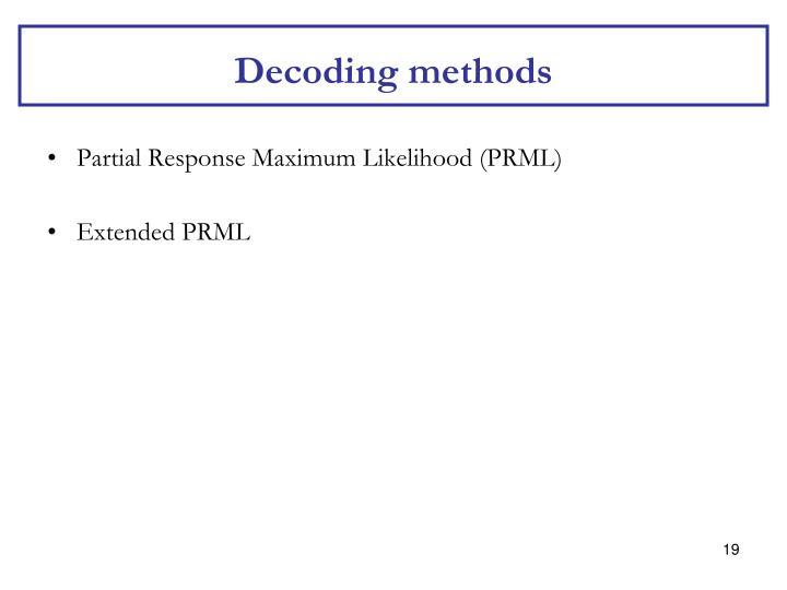 Decoding methods