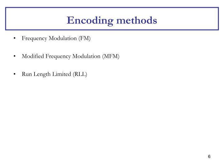 Encoding methods