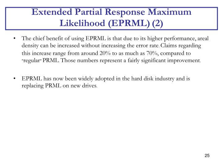 Extended Partial Response Maximum Likelihood (EPRML)
