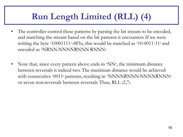 Run Length Limited (RLL) (4)