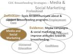 cdc breastfeeding strategies media social marketing