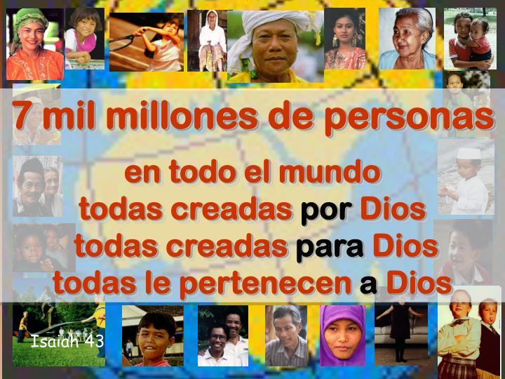 7 mil millones de personas