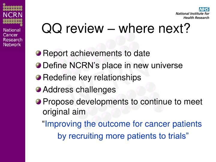 QQ review – where next?