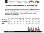 raising numeracy standards for 11 year olds