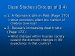case studies groups of 3 4
