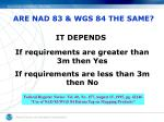 are nad 83 wgs 84 the same