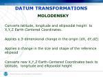 datum transformations2