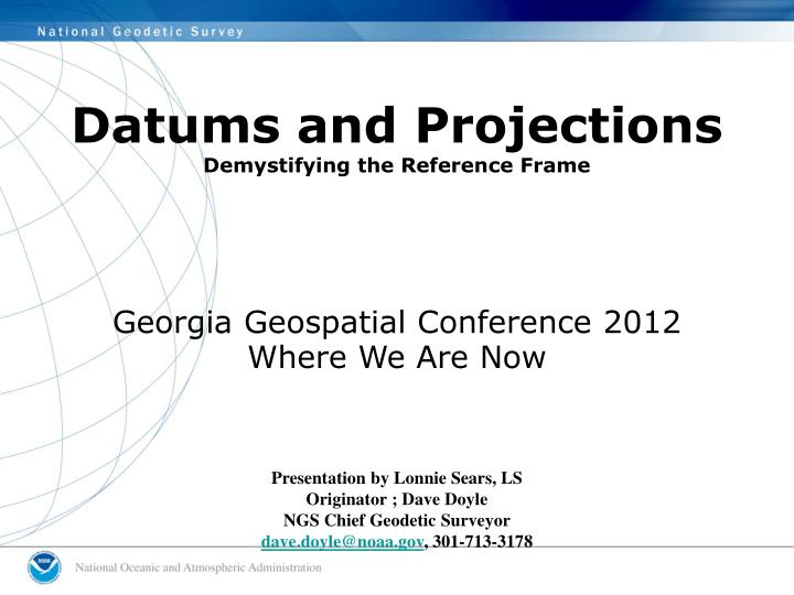 datums and projections demystifying the reference frame