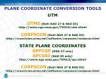 plane coordinate conversion tools