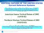 vertical datums of the united states current reference systems