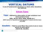 vertical datums