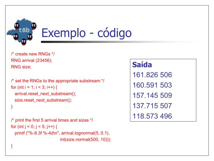Exemplo - código