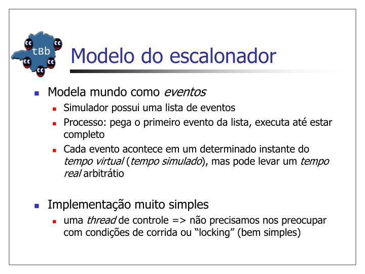 Modelo do escalonador