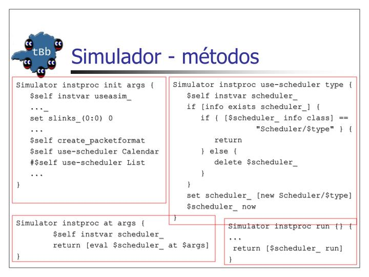 Simulador - métodos