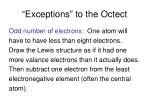 exceptions to the octect1