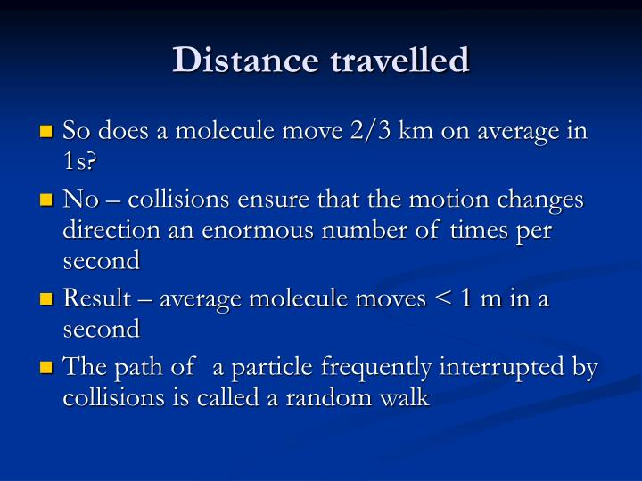 Distance travelled