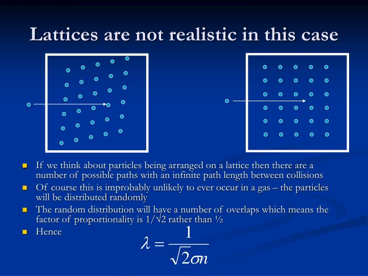 Lattices are not realistic in this case