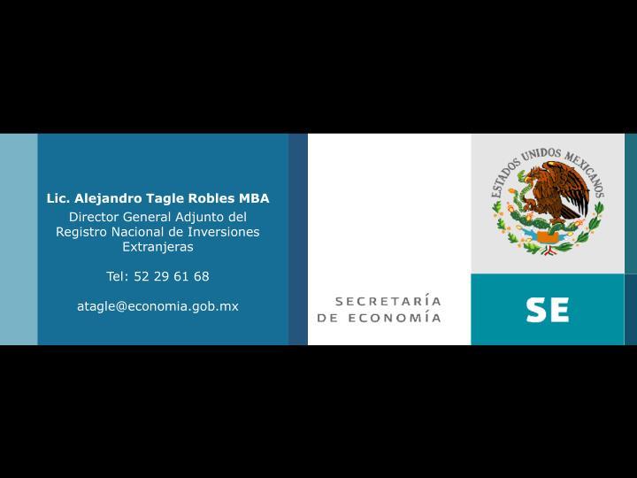 Lic. Alejandro Tagle Robles MBA