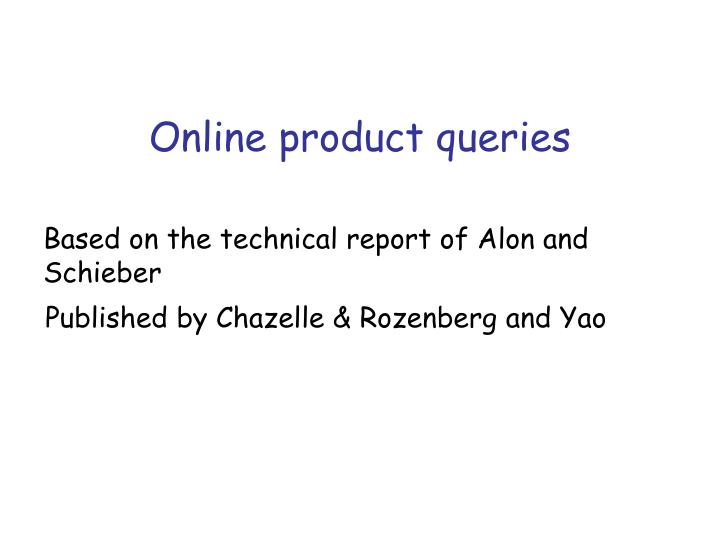 online product queries n.