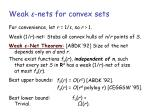 weak nets for convex sets